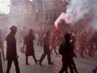 Беспорядки во время поездки Марин Ле Пен в Нант