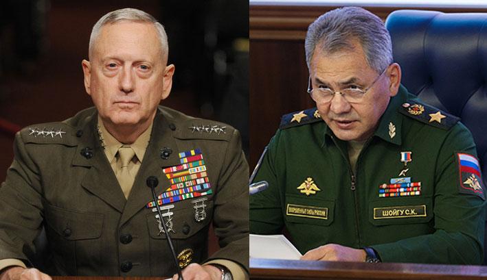 Россия — США, Мэттис — Шойгу