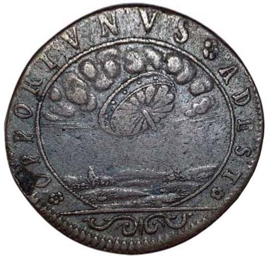 НЛО на французской монете XVI века