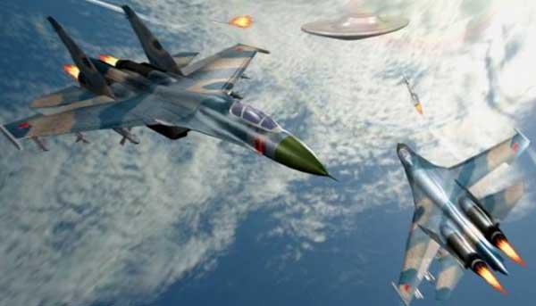 Погоня американских F/A-18 за НЛО