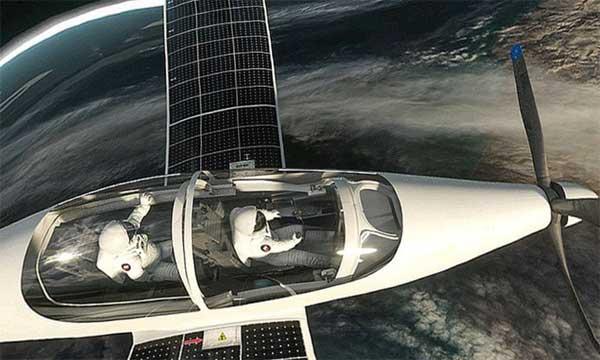 Стратосферный самолет на солнечной тяге