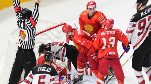 Россия выбыла из борьбы за медали ЧМ по хоккею