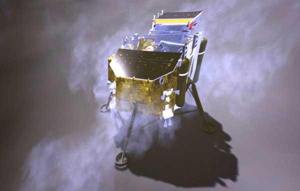 «Чанъэ-4» на обратной стороне Луны.